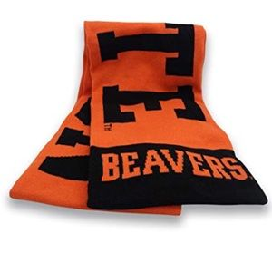 Oregon State Beavers Unisex Knit In Scarf NWT